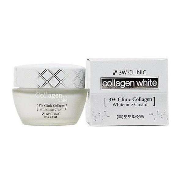 Отбеливающий крем 3W Clinic Collagen с коллагеном