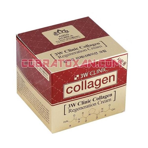 Крем c коллагеном 3w Clinic Collagen