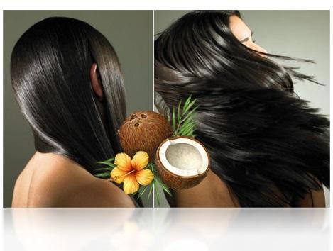 использование кокосового масло для волос