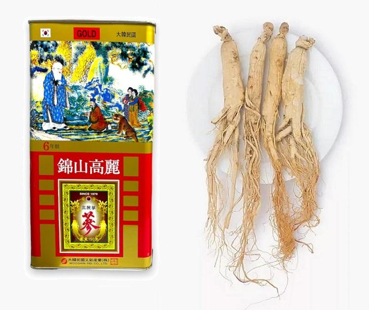 Красный корень женьшеня сушеный из Кореи