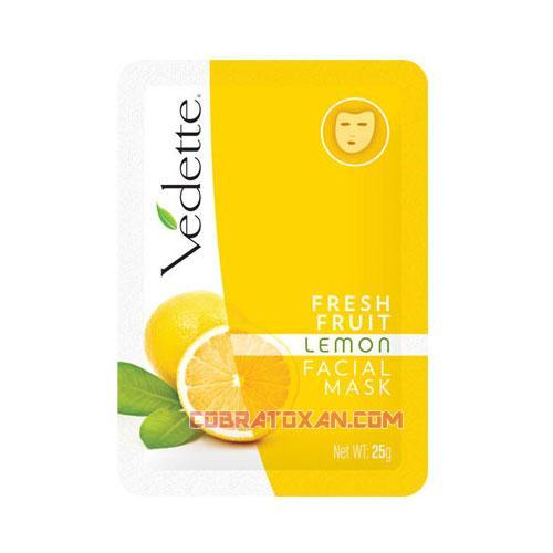 Маска с лимоном и витамином C для лица Vedette lemon