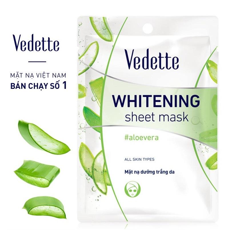 Увлажняющая маска для лица с алоэ Vedette aloe