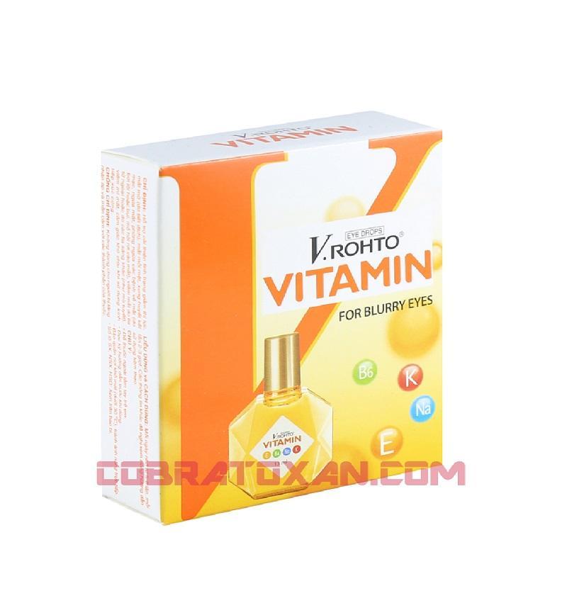 Капли для глаз  V.rohto Vitamin