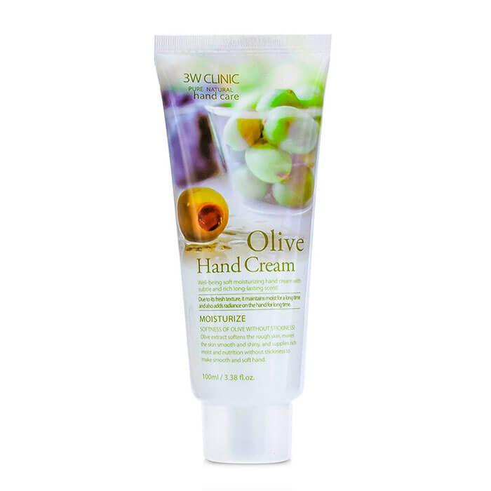 Крем для рук с оливковым маслом 3W Clinic