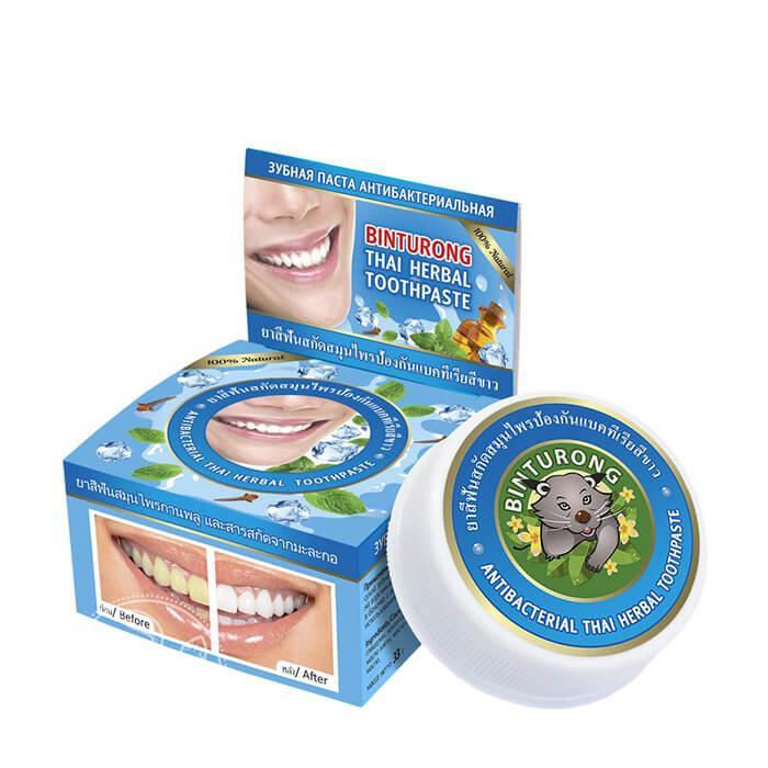 Твердая паста Binturong Antibacterial Thai Herbal Toothpaste (33 мл)