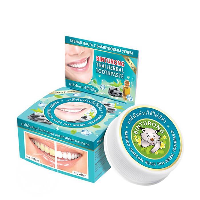 Зубная паста с углем Binturong Bamboo Charcoal Black Thai Herbal Toothpaste (33 мл)