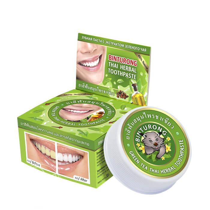 Паста от периодонтита	Binturong Green tea Thai Herbal Toothpaste (33 мл)