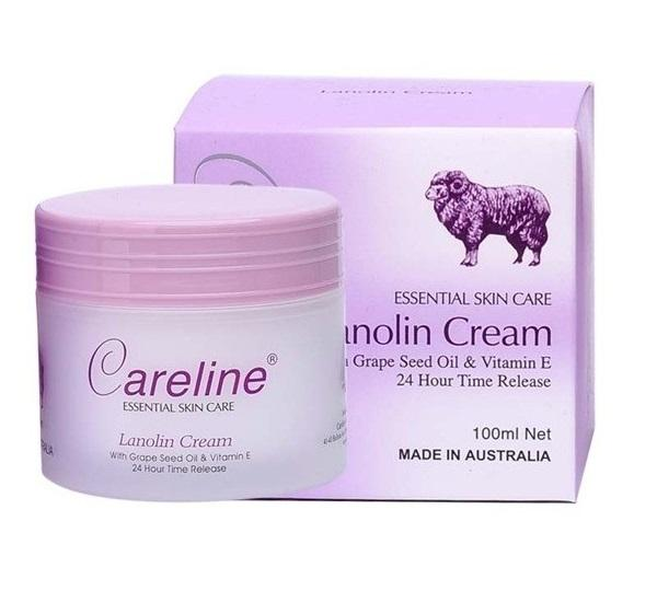 Крем для лица с плацентой Careline Lanolin Cream With Grape Seed Oil
