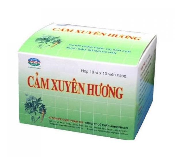 Натуральный противопростудный препарат Cam Xuyen Huong, Armephaco (100 капс.)