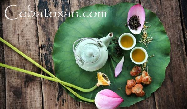 вьетнамский напиток с лотосом