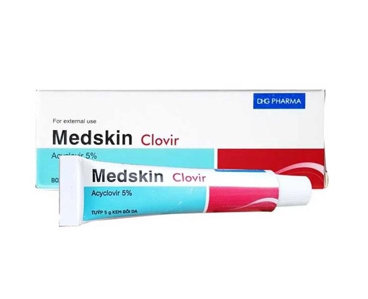 Противовирусный крем от герпеса Medskin Clovir, DHG Pharma (5 г)