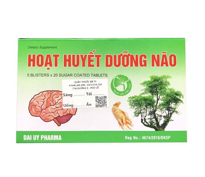 Hoat Huyet Duong Nao для питания головного мозга (100 шт)
