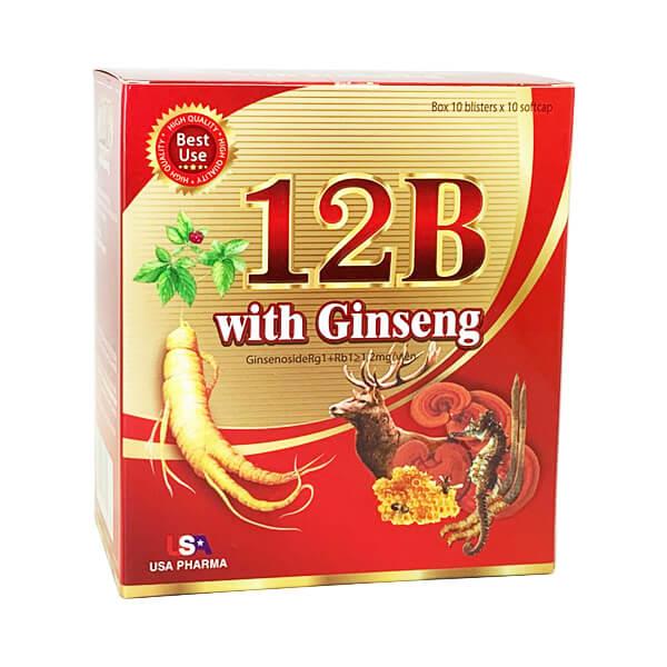 Иммуномодулятор растительный 12B with Ginseng (100 капс)
