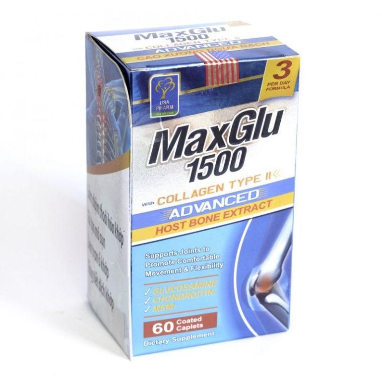Капсулы MaxGlu 1500 для лечения артроза и восстановления суставов (60 шт)