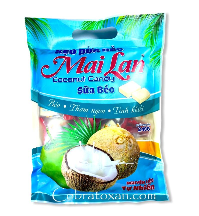 Натуральные кокосовые конфеты Mai Lan, Вьетнам (240 г)