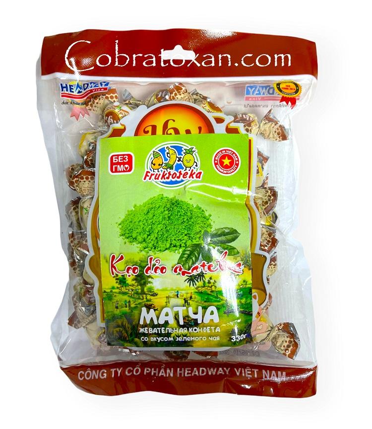 Жевательные конфеты Матча со вкусом зеленого чая, Headway (330 г)