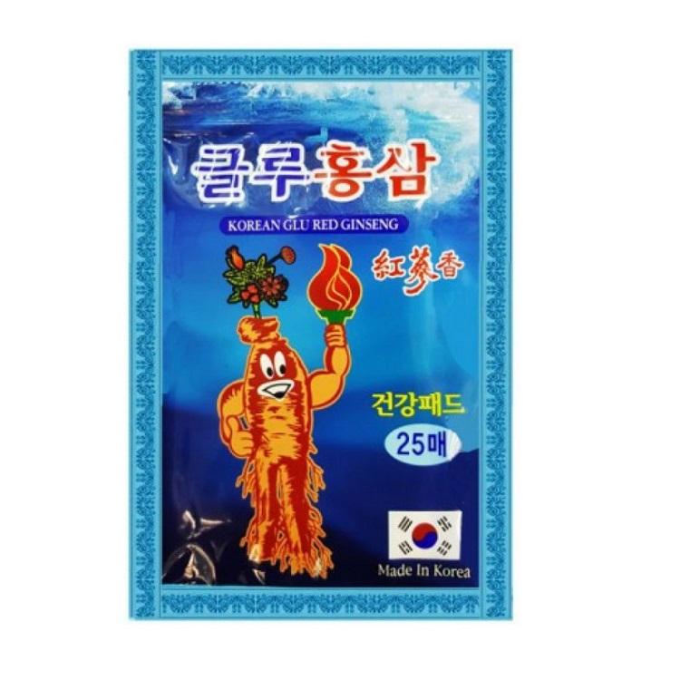 Пластырь с глюкозамином и женьшенем Korean Glu Red Ginseng (20 шт)