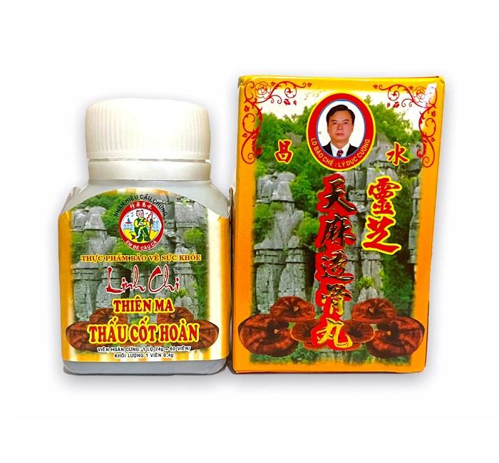 Растительный препарат Linh Chi Thien Ma для облегчения артрита и болей в спине, Thuy Xuong (60 капс.)