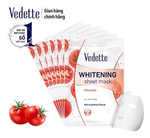 Vedette Tomato отбеливающая маска для лица с экстрактом томата
