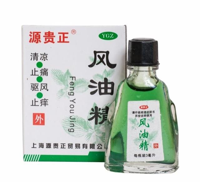 Масло-бальзам Fengyoujing Tai Yan от боли и простуды, Guangzhou Baiyunshan Pharma (3 мл)