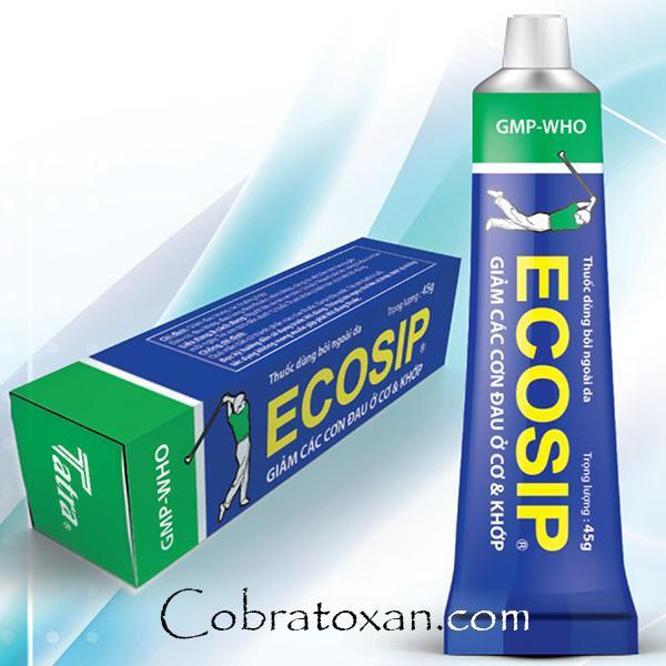 Противовоспалительная и обезболивающая мазь Ecosip (45 г)