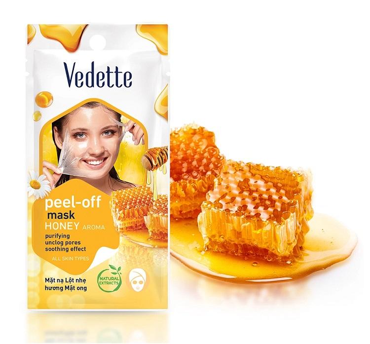 Очищающая медовая маска-пилинг для лица Vedette honey