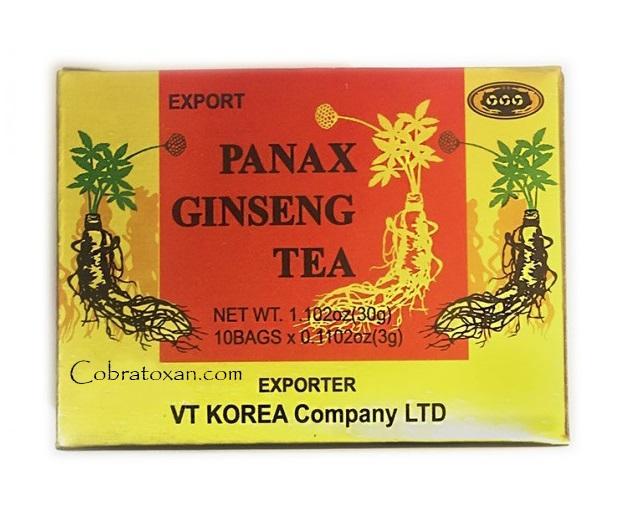Panax Ginseng Tea чай с корейским женьшенем (10 пак х 3 гр)