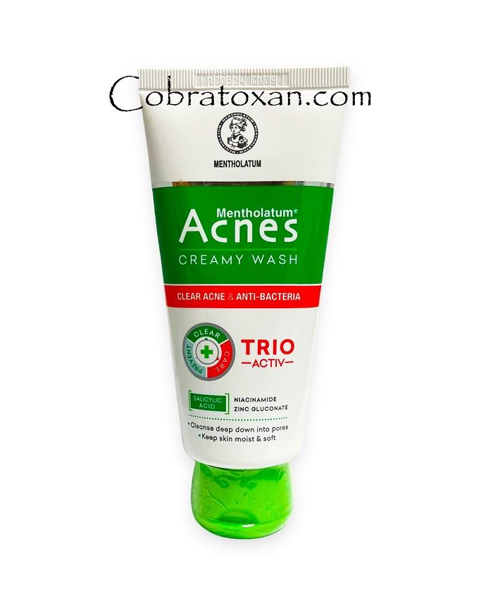 Пенка для умывания Acnes Creamy Wash (Trio Activ)