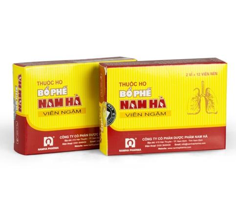 Растительные пастилки от кашля и боли в горле Bo Phe Nam Ha, Namhapharma (24 шт.)