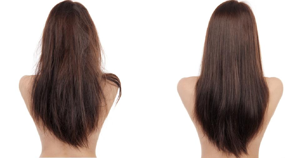 волосы до и после использования