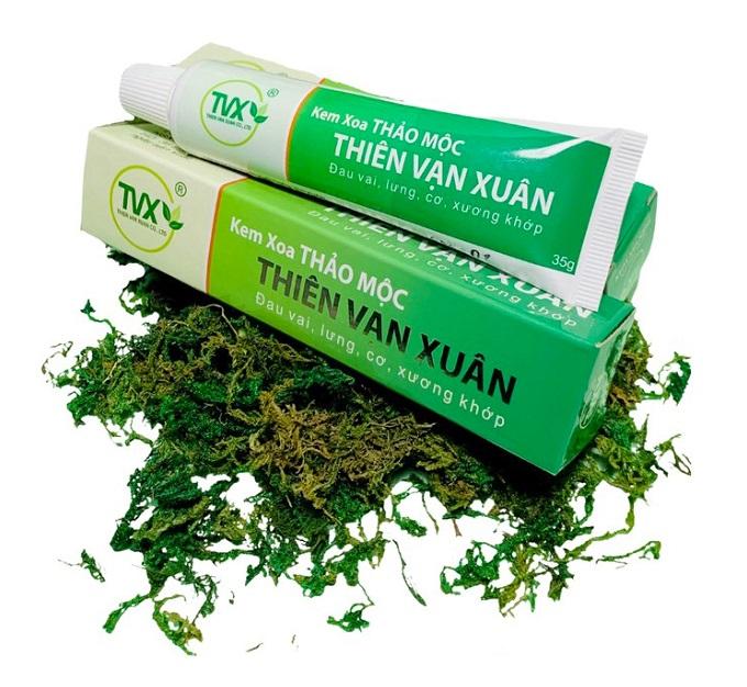 Травяной крем Thien Van Xuan от ушибов боли в спине и суставах TVX (35 г)