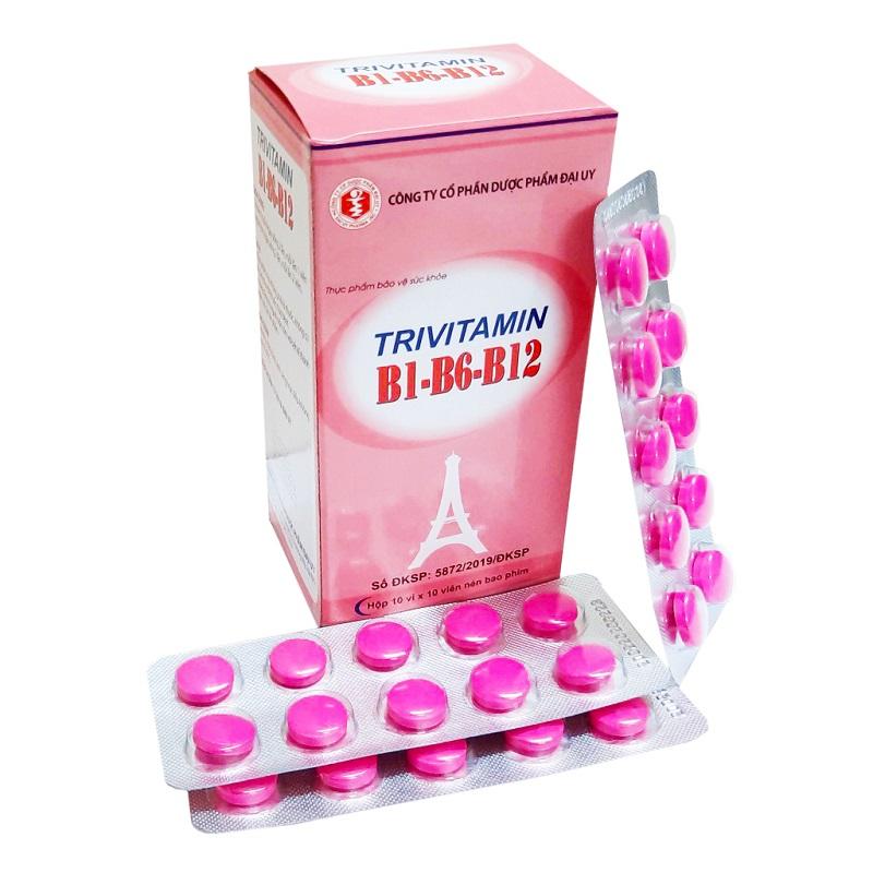 Витаминный комплекс Trivitamin B1 — B6 — B12, Dai Uy Pharmaceutical (100 табл.)