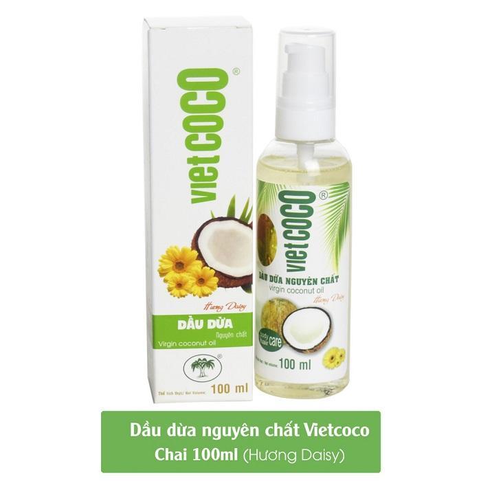 Vietcoco кокосовое масло с запахом ромашки 100 мл