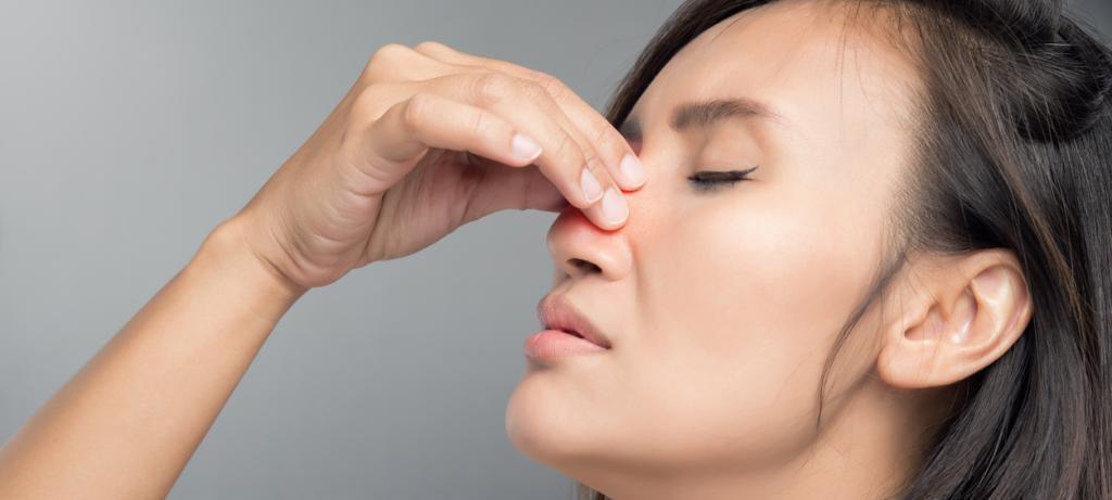 при заложенности носа