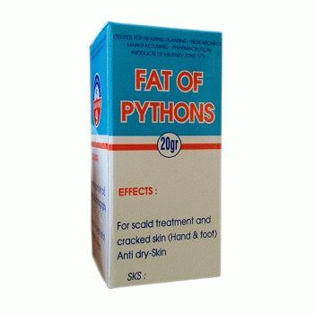 fat of pythons