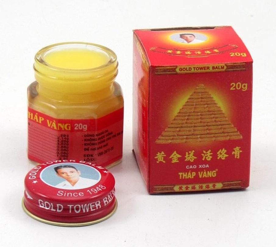 Лечебный бальзам «Золотая башня» Gold Tower Balm, Kim Phong (20 г)